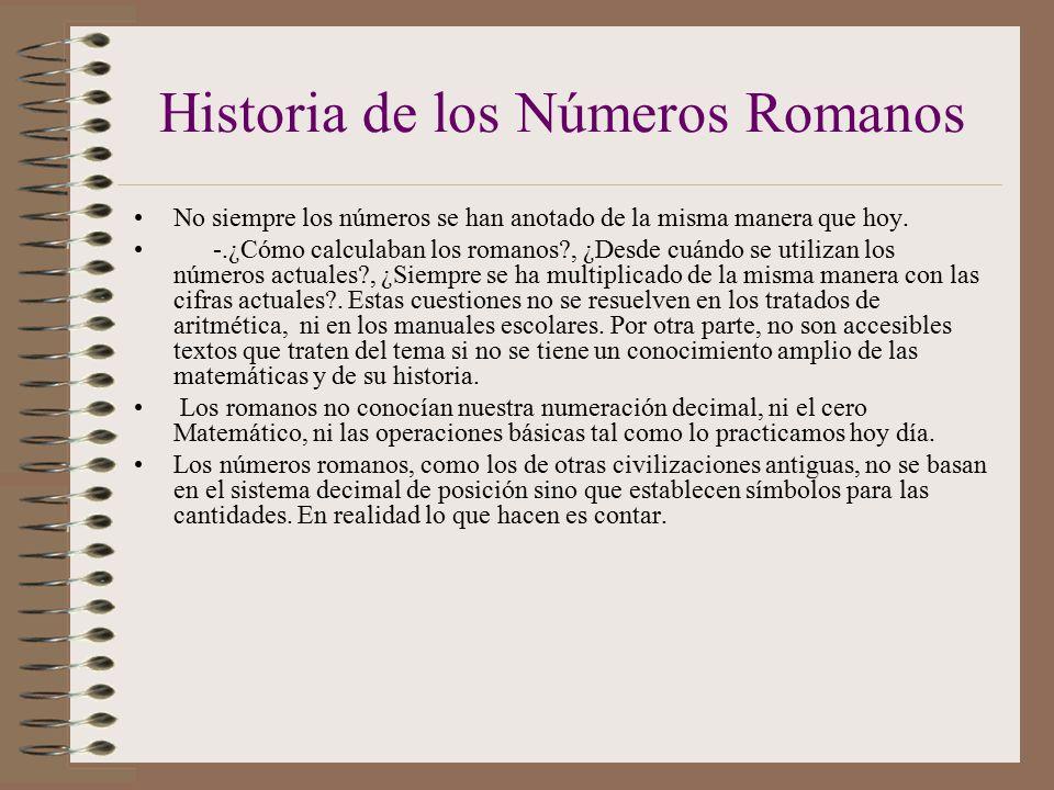 Historia De Los Numeros Romanos 28 Images Historia De