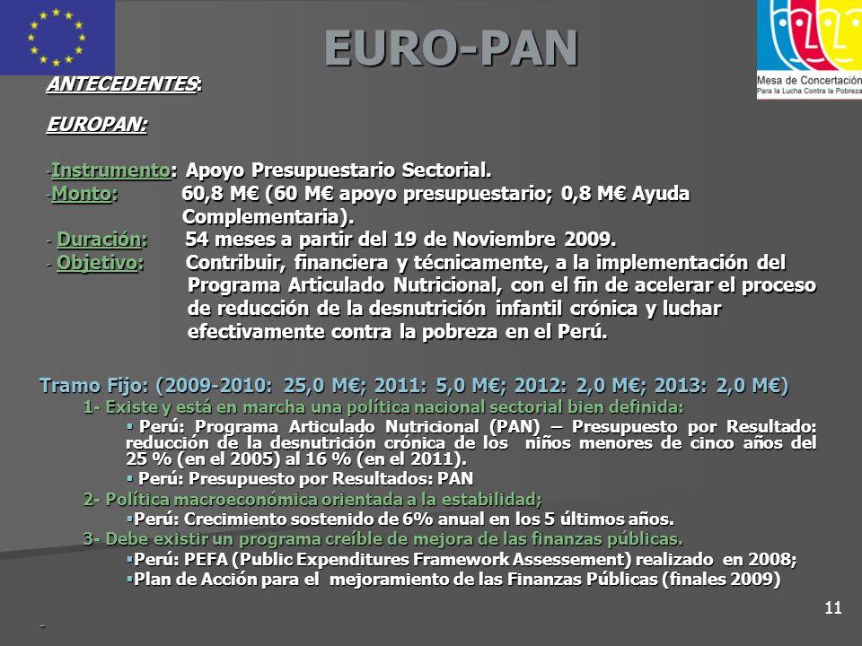 EURO-PAN ANTECEDENTES: EUROPAN: