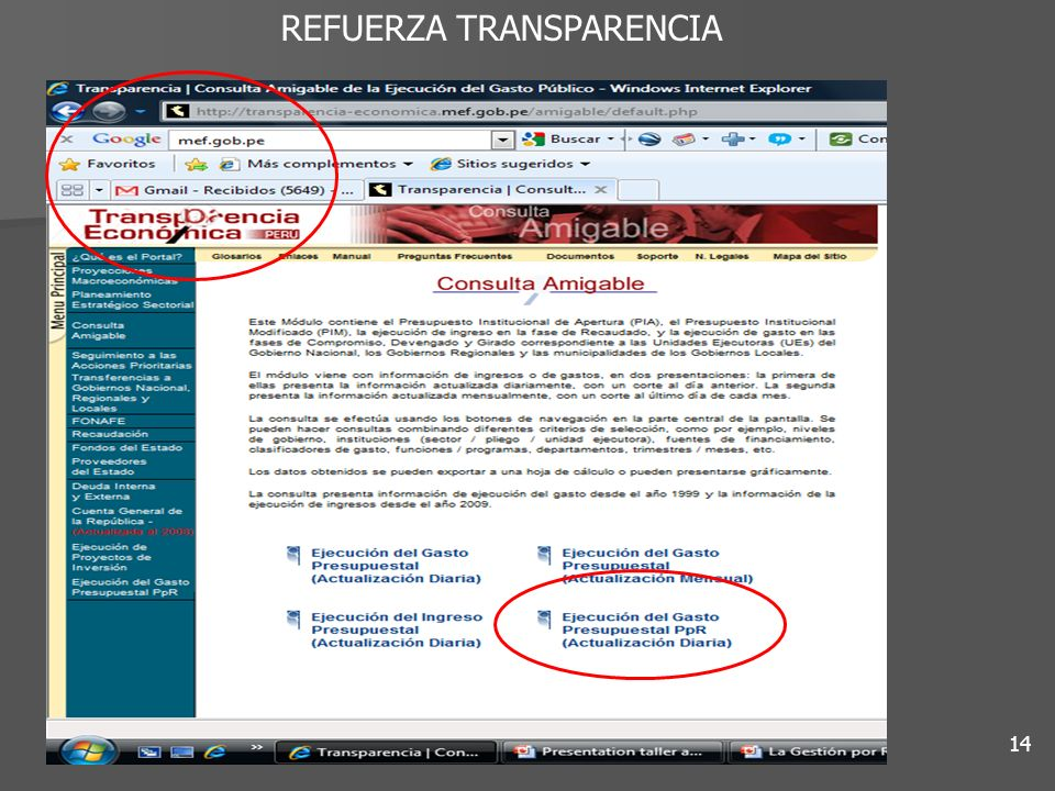 REFUERZA TRANSPARENCIA