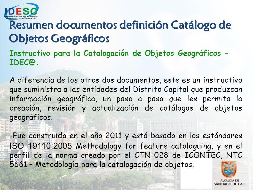 plan de trabajo para la definici243n del cat225logo de objetos