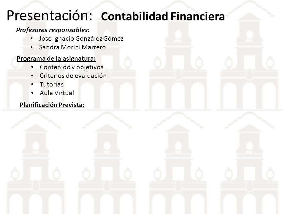 Presentación: Contabilidad Financiera