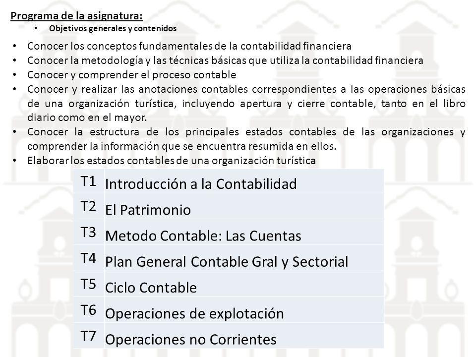 Introducción a la Contabilidad T2 El Patrimonio T3