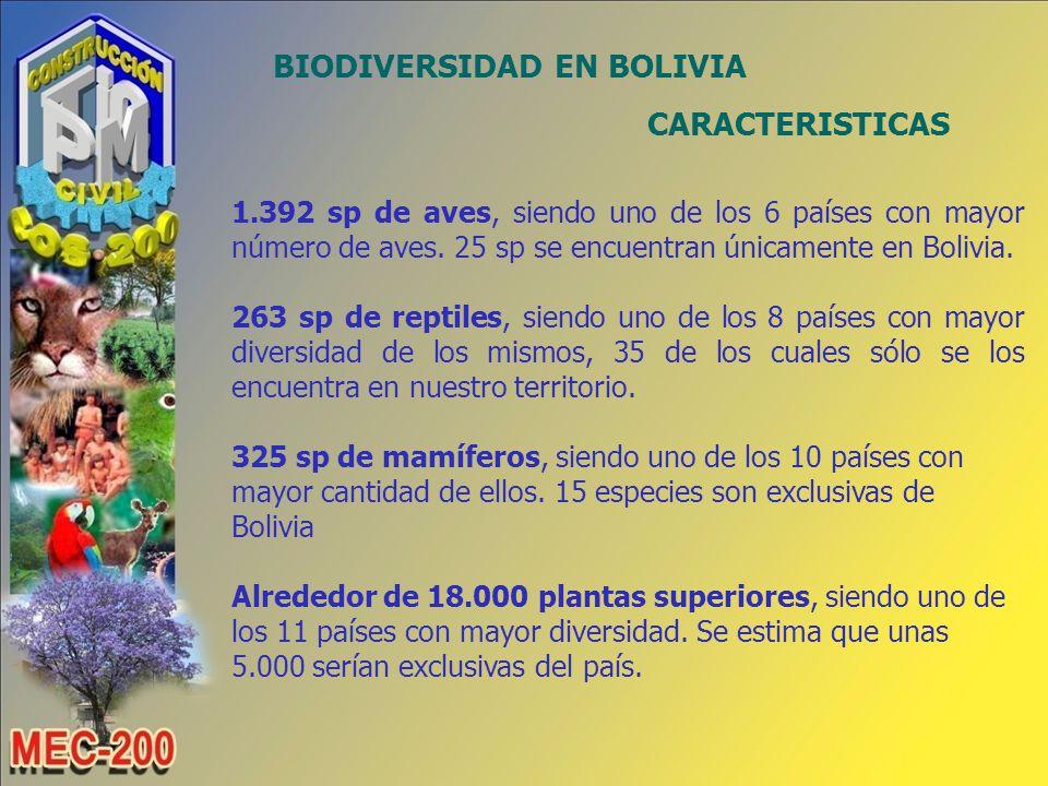 BIODIVERSIDAD EN BOLIVIA