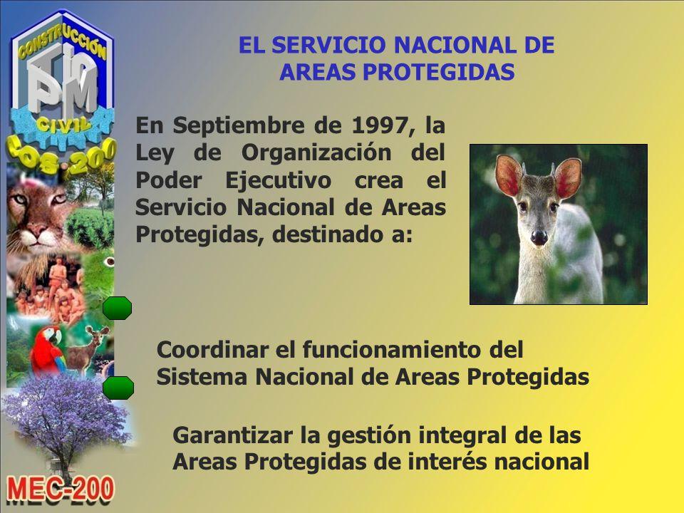 EL SERVICIO NACIONAL DE AREAS PROTEGIDAS