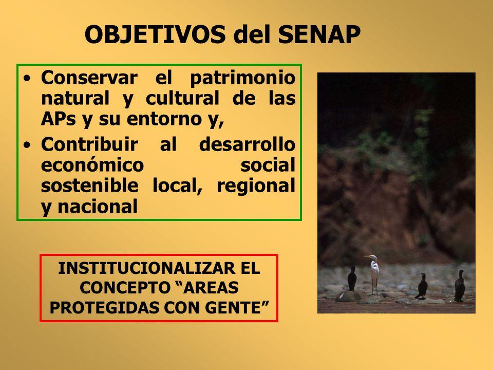 INSTITUCIONALIZAR EL CONCEPTO AREAS PROTEGIDAS CON GENTE