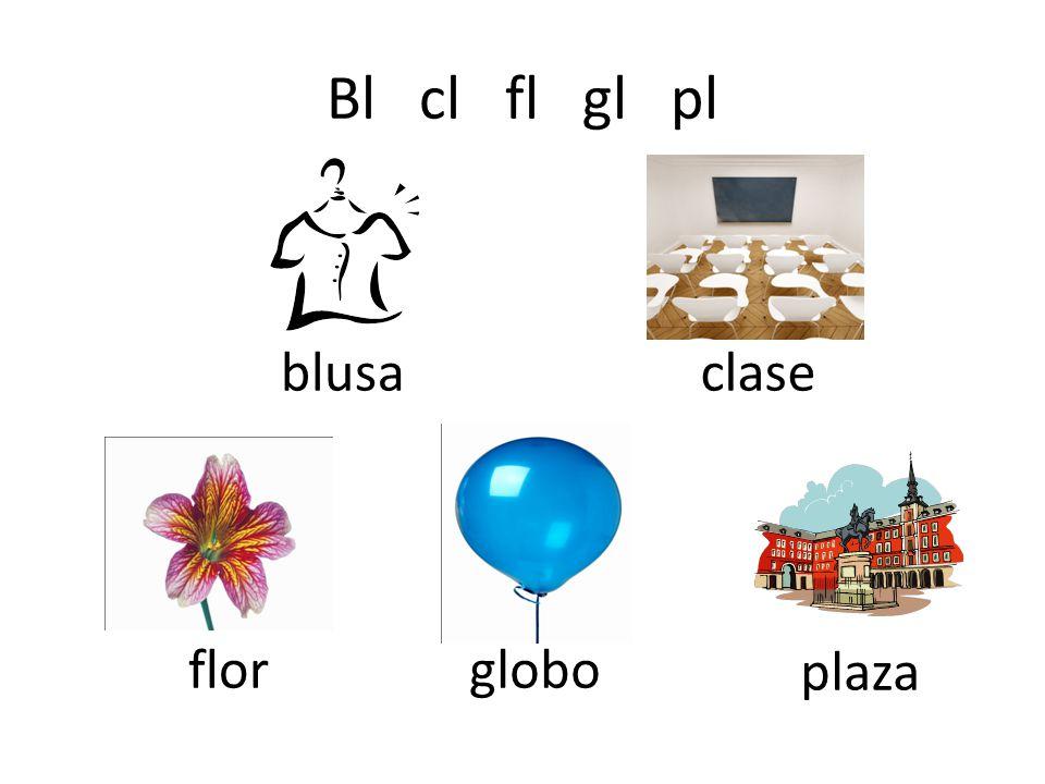 Bl cl fl gl pl blusa clase flor globo plaza