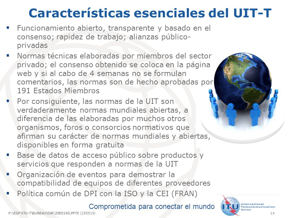 Características esenciales del UIT-T