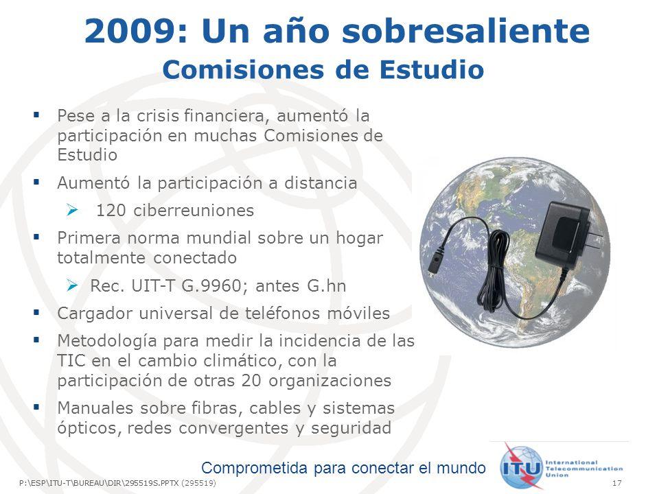 2009: Un año sobresaliente Comisiones de Estudio