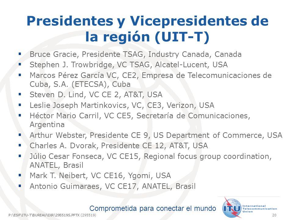Presidentes y Vicepresidentes de la región (UIT-T)