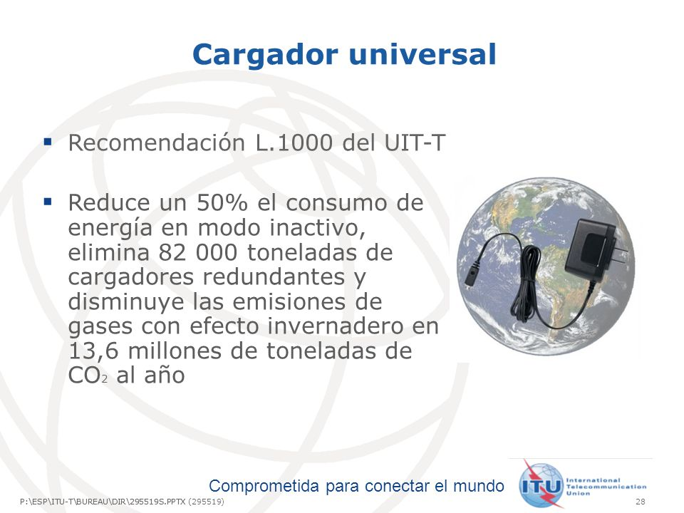 Cargador universal Recomendación L.1000 del UIT-T