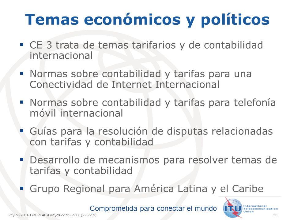 Temas económicos y políticos
