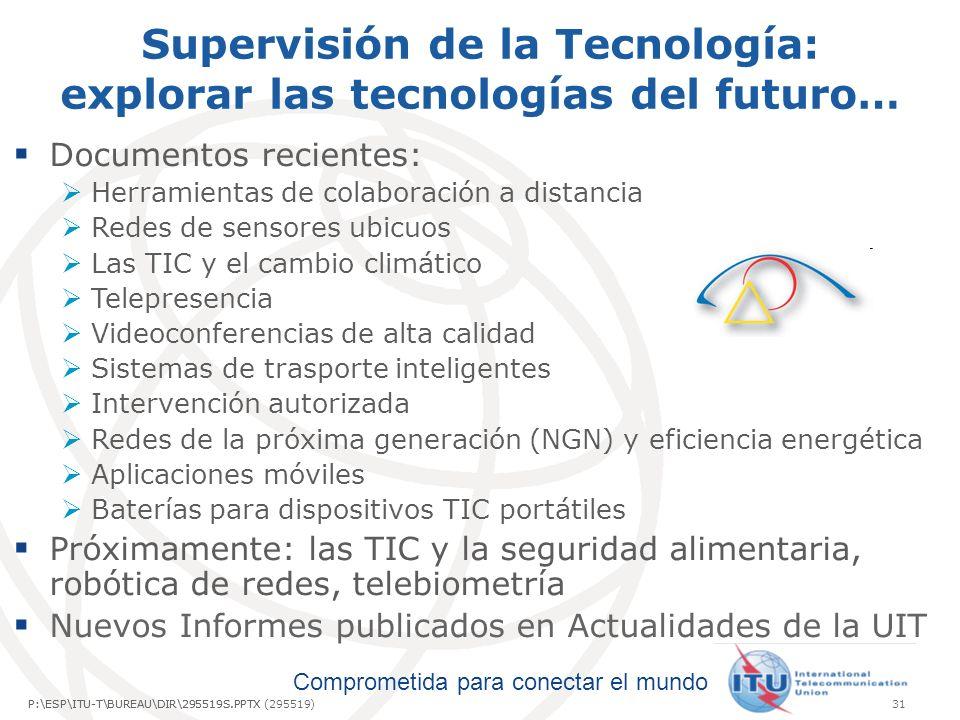 Supervisión de la Tecnología: explorar las tecnologías del futuro…