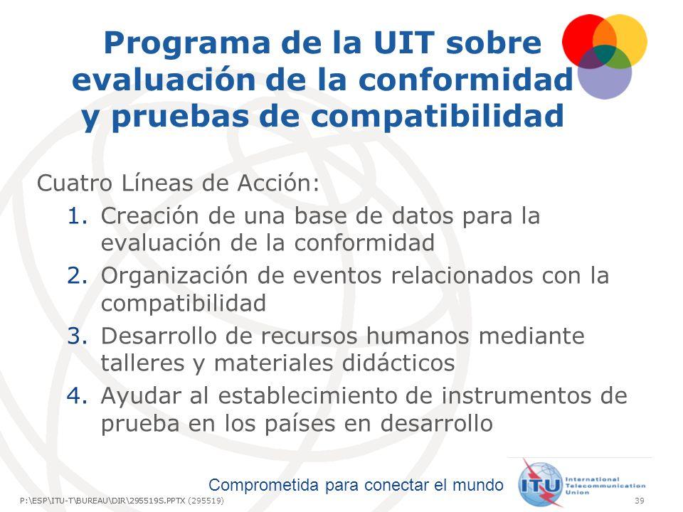 Programa de la UIT sobre evaluación de la conformidad y pruebas de compatibilidad