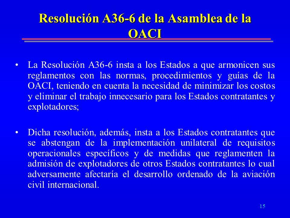 Resolución A36-6 de la Asamblea de la OACI