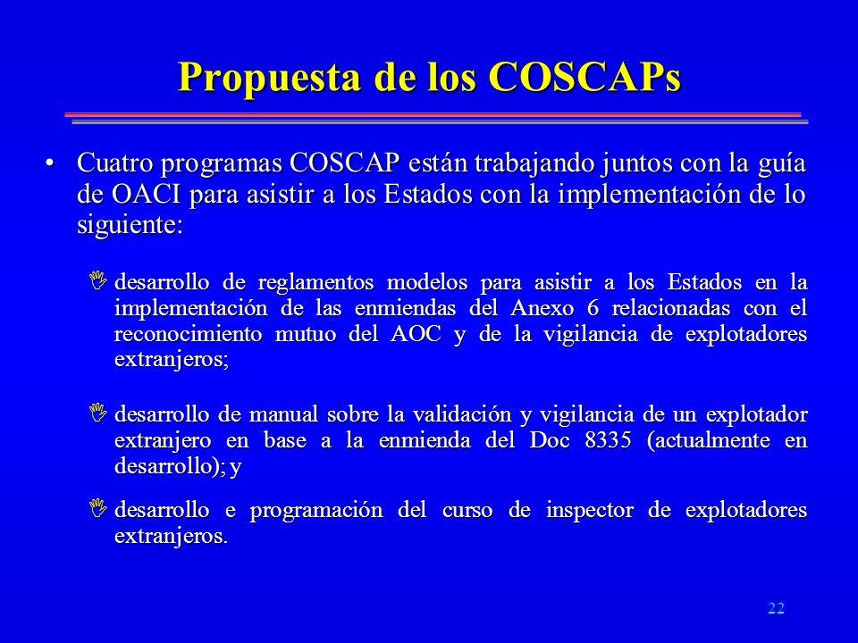 Propuesta de los COSCAPs