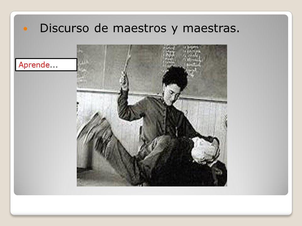 Discurso de maestros y maestras.