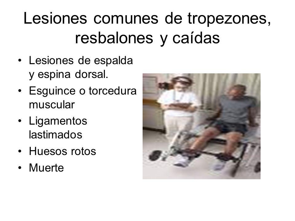 Lesiones comunes de tropezones, resbalones y caídas