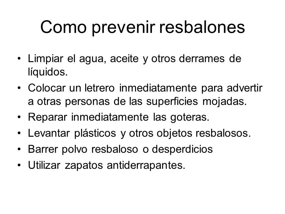 Como prevenir resbalones