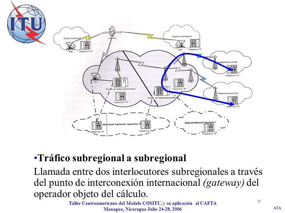 Tráfico subregional a subregional