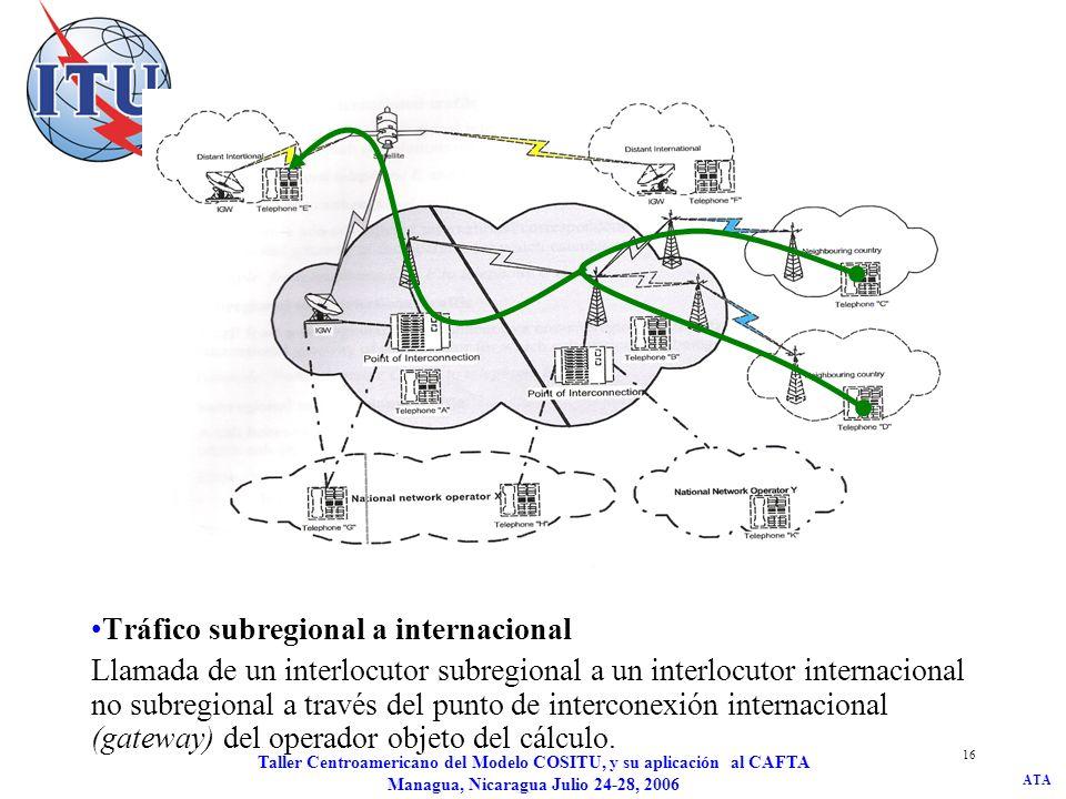 Tráfico subregional a internacional