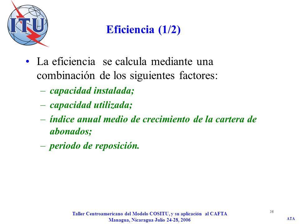 JD/kat Eficiencia (1/2) La eficiencia se calcula mediante una combinación de los siguientes factores: