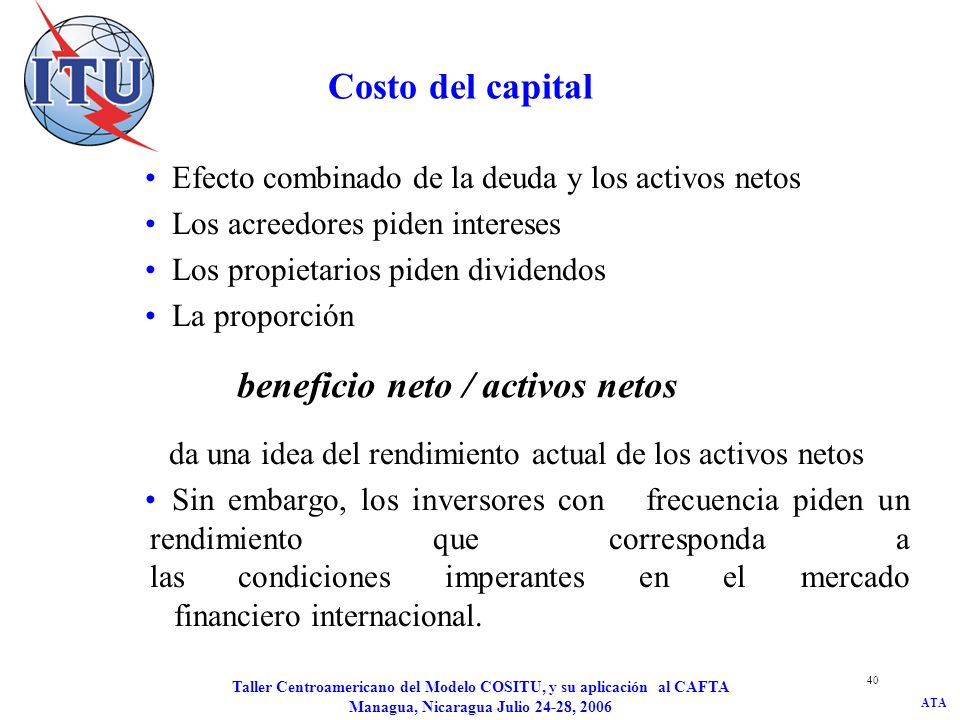 beneficio neto / activos netos