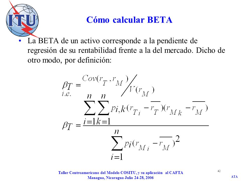 JD/kat Cómo calcular BETA.