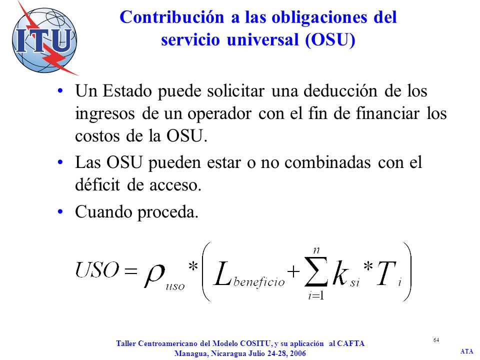 Contribución a las obligaciones del servicio universal (OSU)