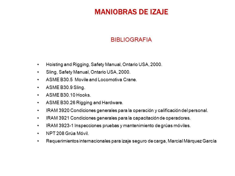 MANIOBRAS DE IZAJE BIBLIOGRAFIA