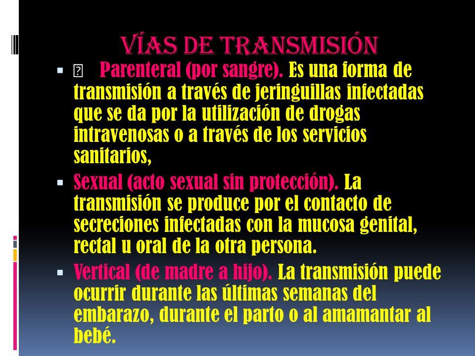 Vías de transmisión