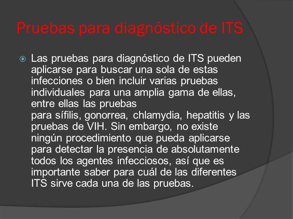 Pruebas para diagnóstico de ITS