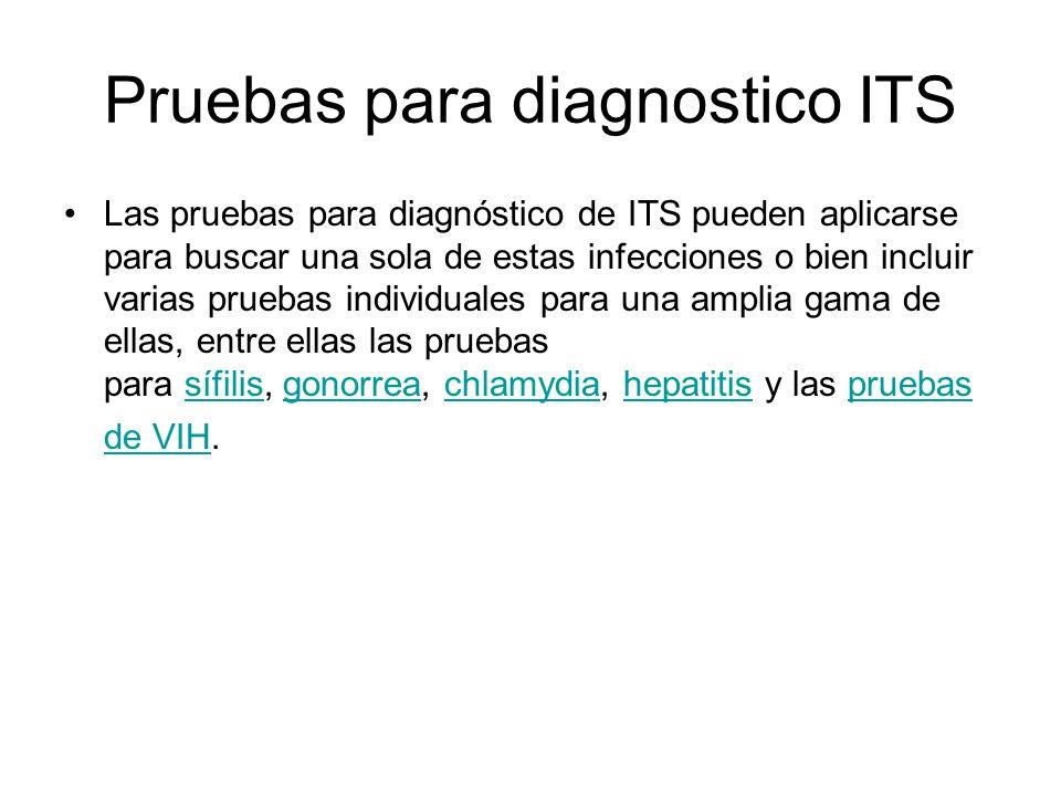Pruebas para diagnostico ITS