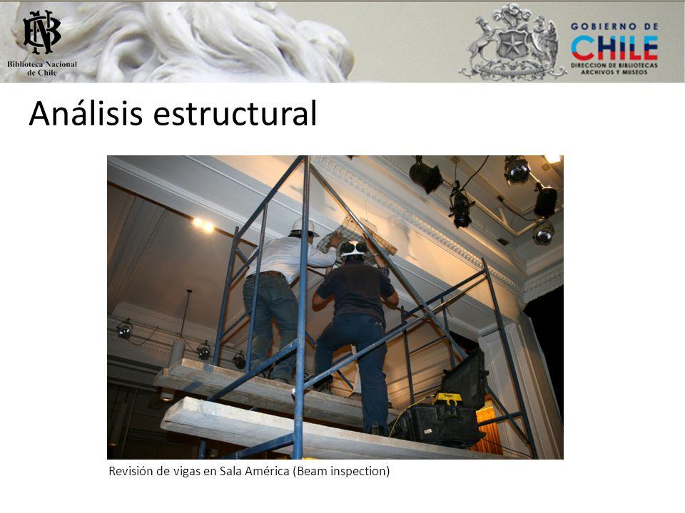 Análisis estructural Revisión de vigas en Sala América (Beam inspection)
