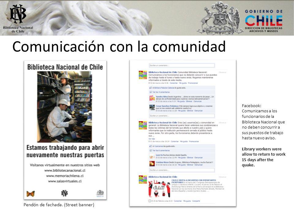 Comunicación con la comunidad