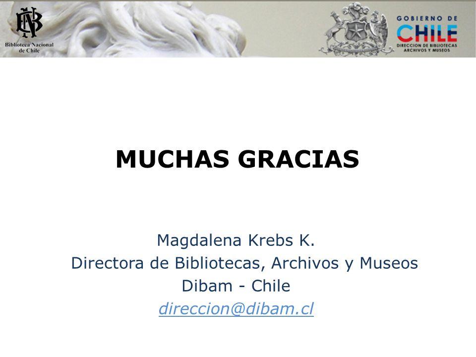 Directora de Bibliotecas, Archivos y Museos