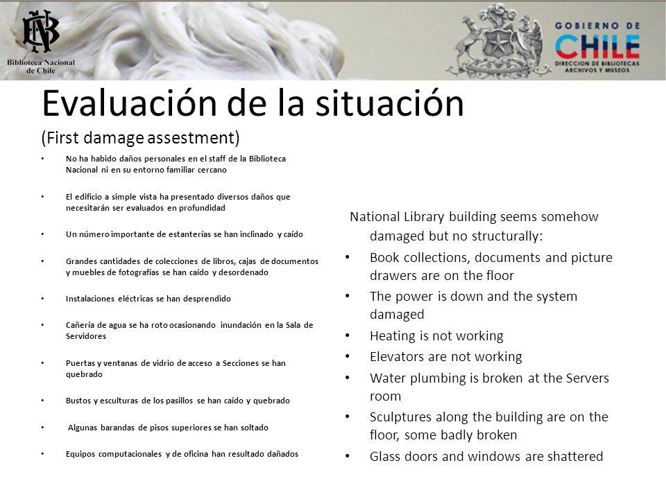 Evaluación de la situación (First damage assestment)