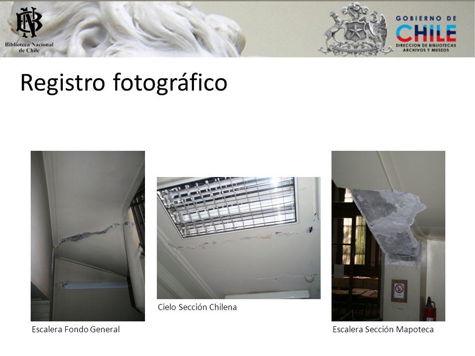Registro fotográfico Cielo Sección Chilena Escalera Fondo General