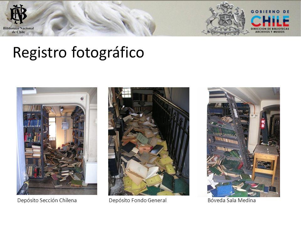 Registro fotográfico Depósito Sección Chilena Depósito Fondo General