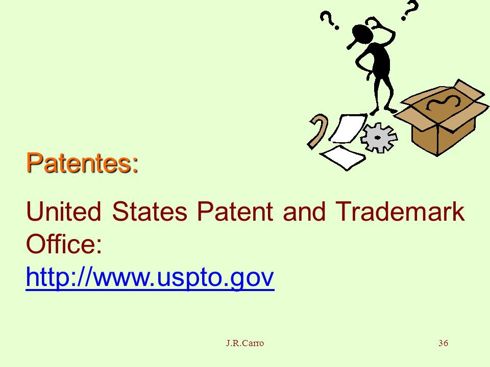 Juan r carro su rez lourdes vilaragut llanes ppt descargar - United states patent and trademark office ...