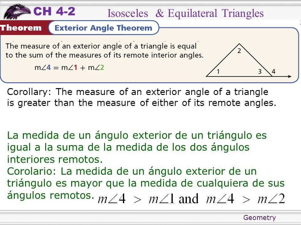 Objectives Prove Theorems About Isosceles And Equilateral