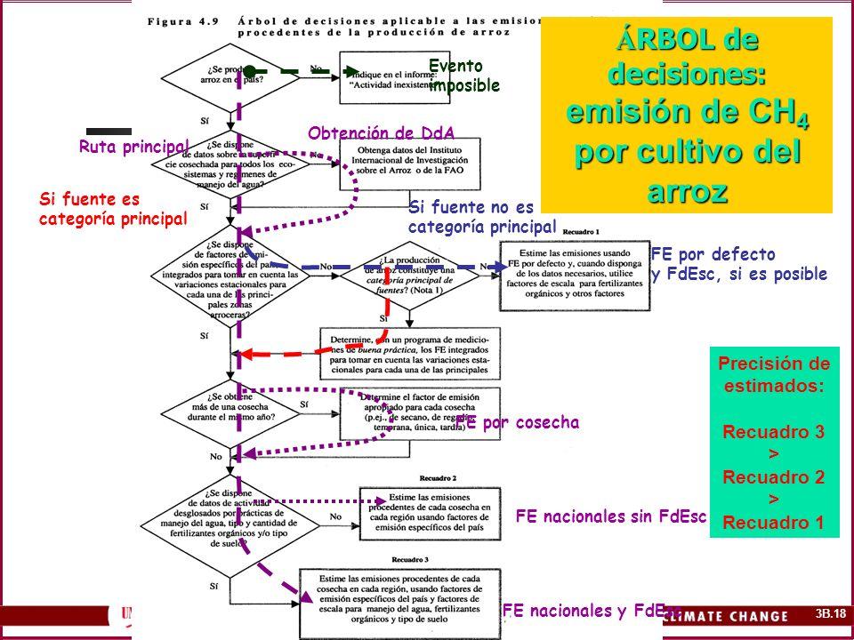 ÁRBOL de decisiones: emisión de CH4 por cultivo del arroz