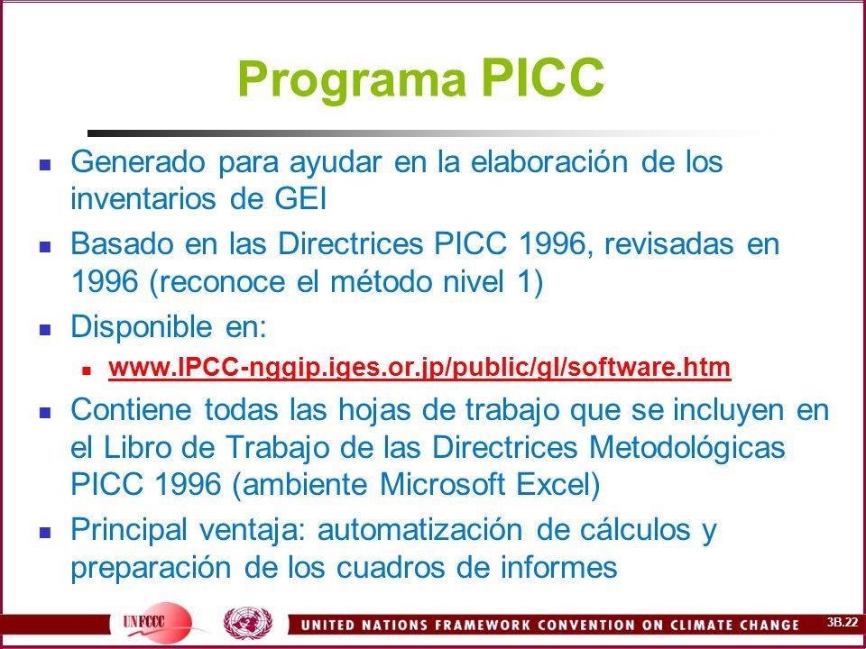 Programa PICC Generado para ayudar en la elaboración de los inventarios de GEI.