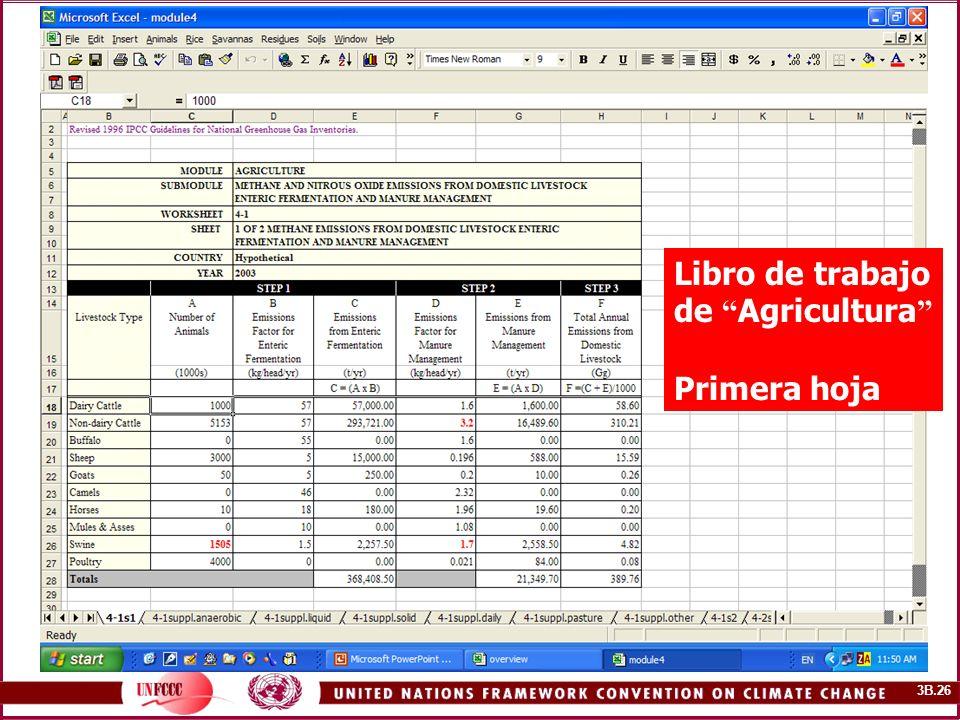 PICC software Libro de trabajo de Agricultura Primera hoja