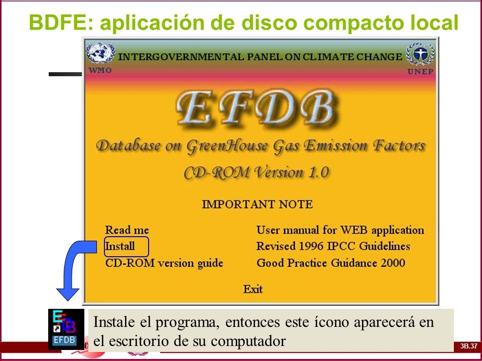 BDFE: aplicación de disco compacto local