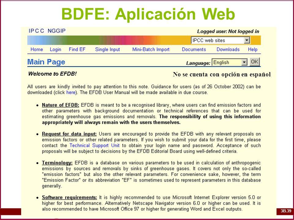 BDFE: Aplicación Web No se cuenta con opción en español