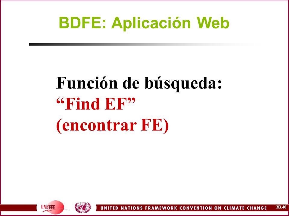 BDFE: Aplicación Web Función de búsqueda: Find EF (encontrar FE)