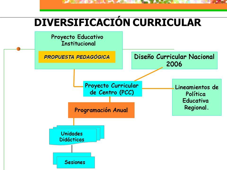 DIVERSIFICACIÓN CURRICULAR Diseño Curricular Nacional
