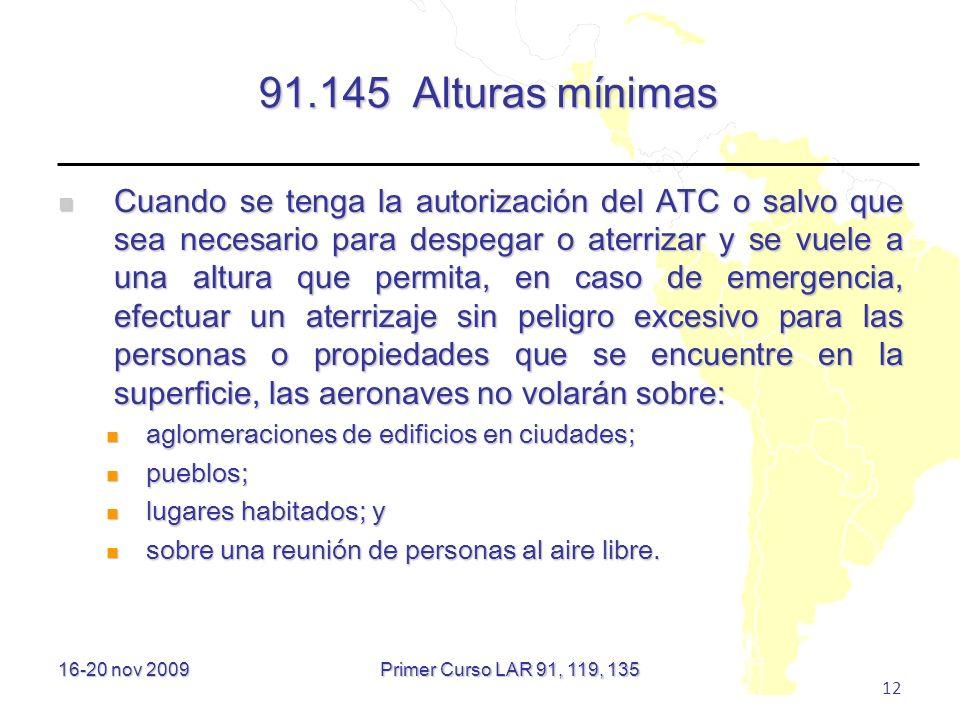 91.145 Alturas mínimas
