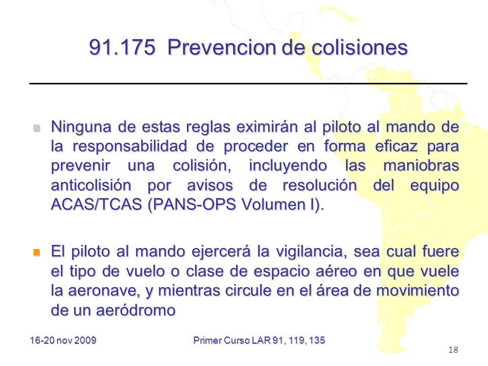91.175 Prevencion de colisiones