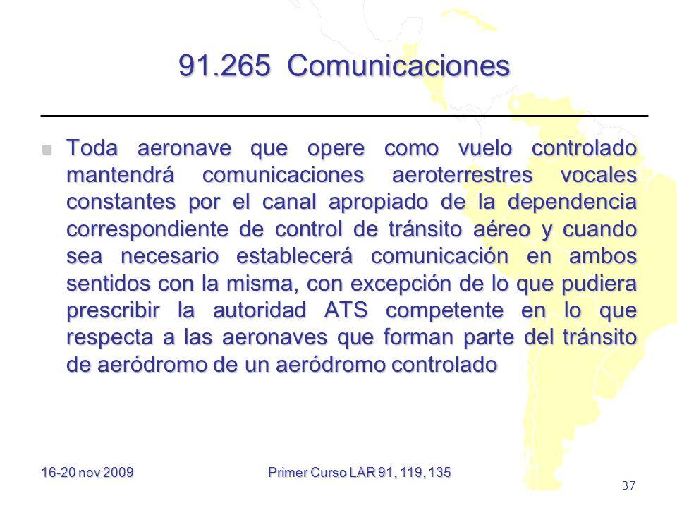 91.265 Comunicaciones